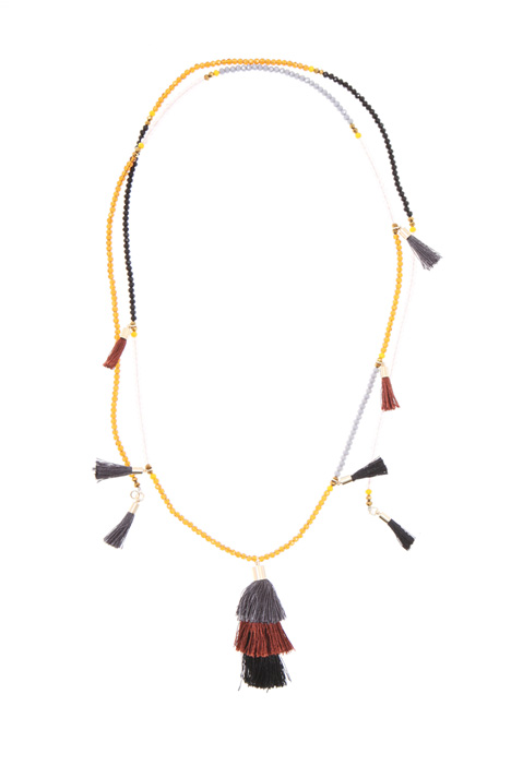 Glass necklace with tassels   Intrend