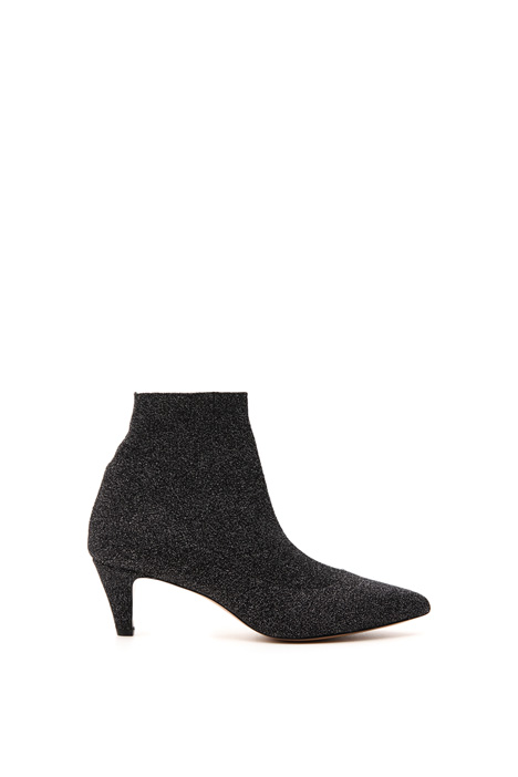Knitted lamè ankle boots    Intrend
