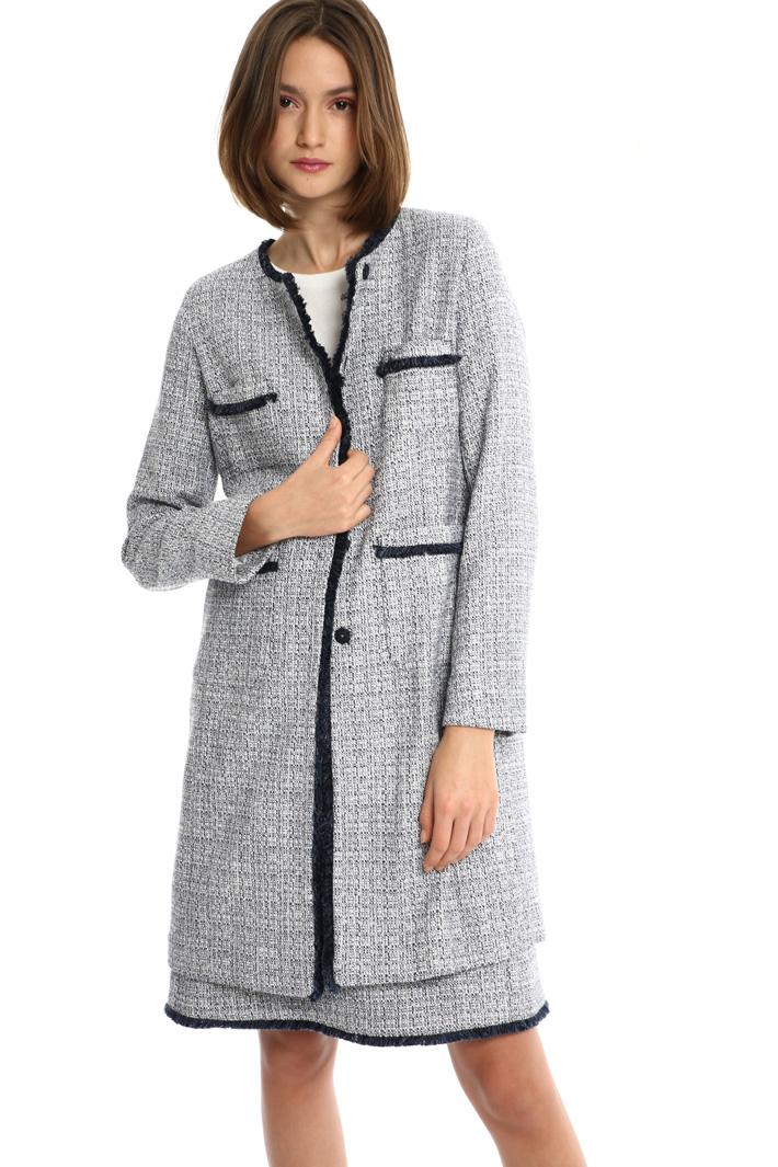 Bouclé cotton duster coat Intrend