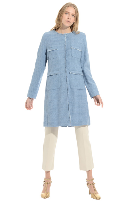 Bouclé cotton duster coat Intrend