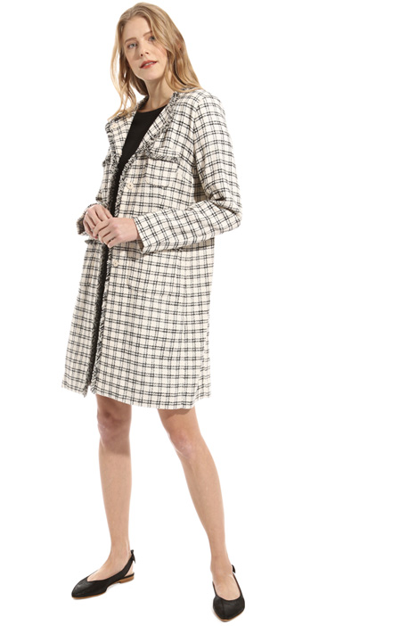 Pure cotton fringed edge coat Intrend