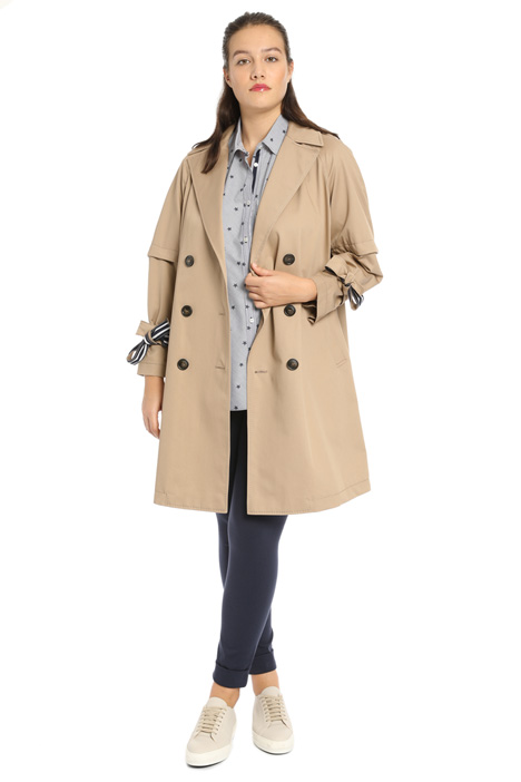 Cotton gabardine trench Intrend