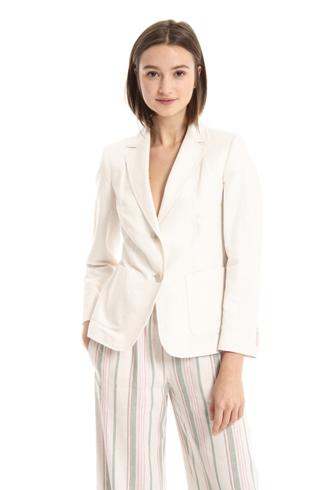 Two button linen blend blazer Intrend