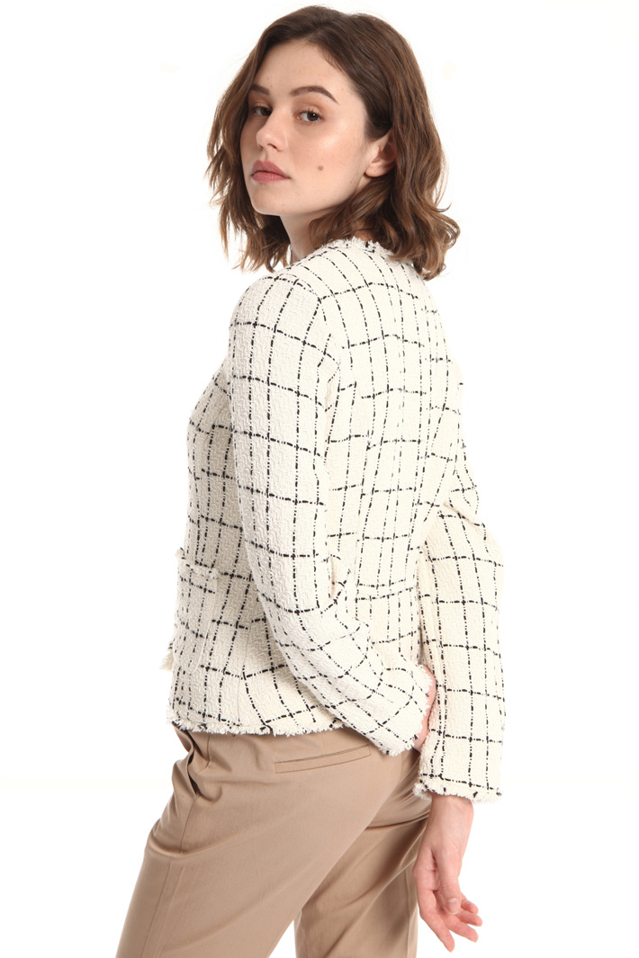 Interwoven cotton jacket Intrend