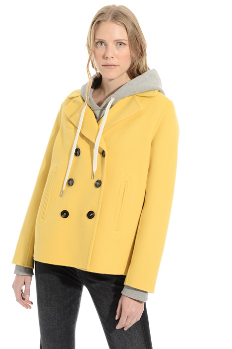 Virgin wool pea coat Intrend