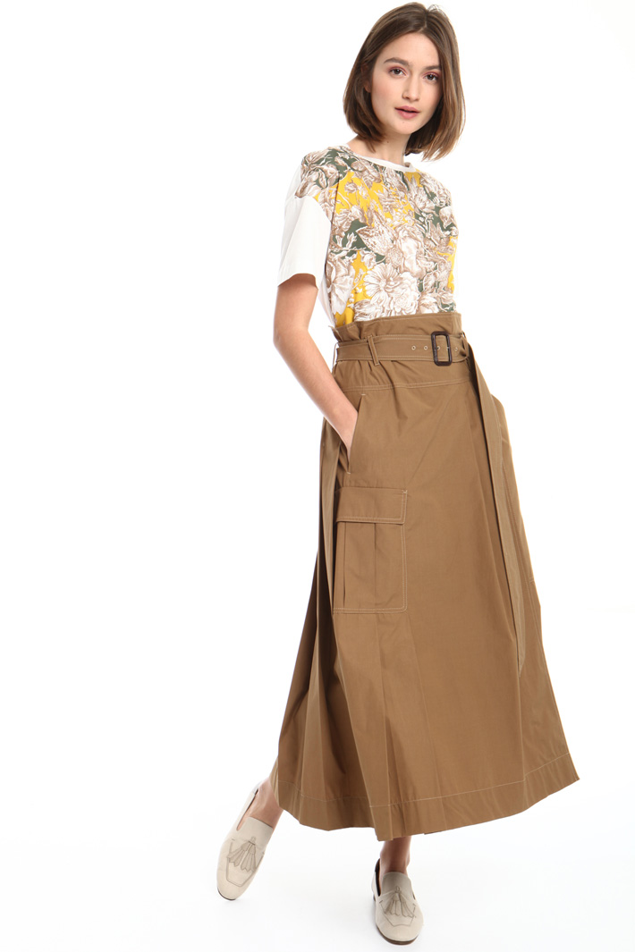 High rise belted skirt Intrend