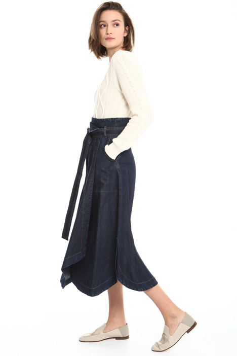 Denim effect midi skirt Intrend