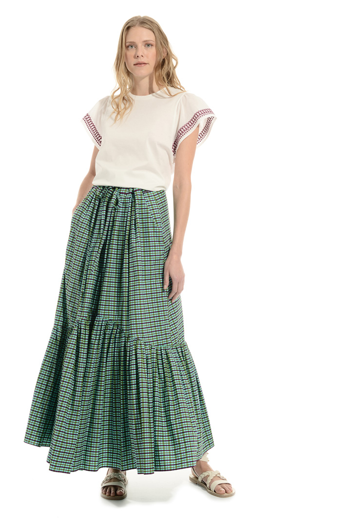 Ruffled skirt in cotton Intrend