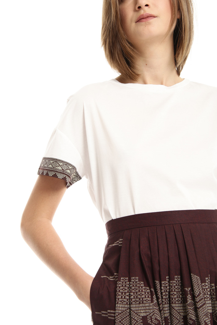 Printed skirt with pockets Intrend