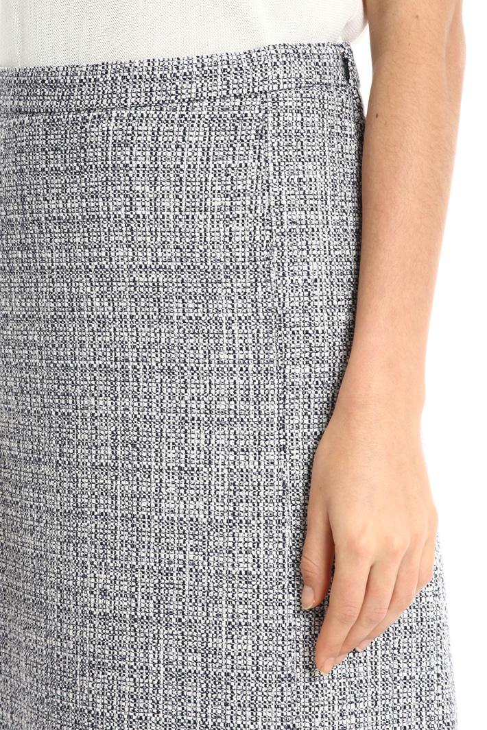Knit-effect cotton skirt Intrend