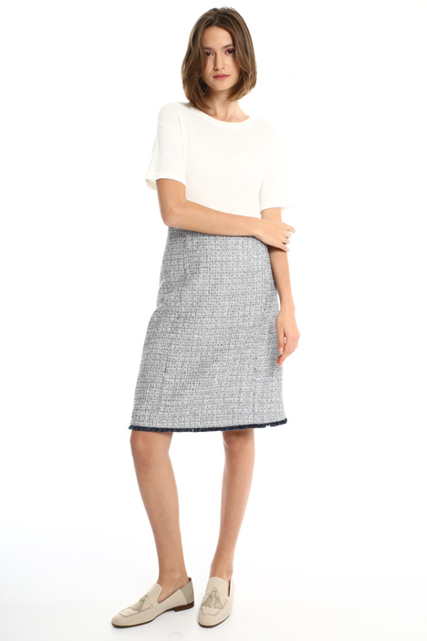 Knit-effect cotton skirt Intrend