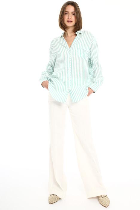 Yarn-dyed linen shirt Intrend