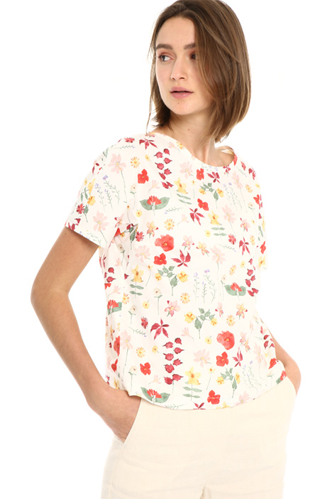 Printed cotton top Intrend