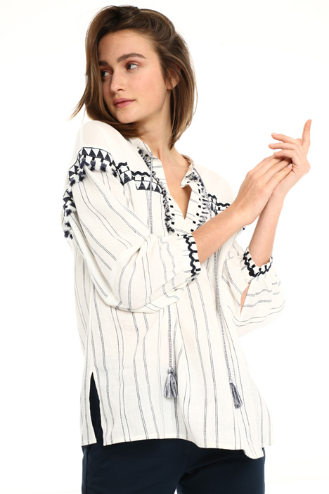 Cotton and linen tunic Intrend