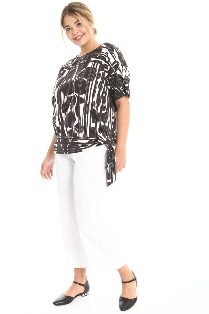 Printed cotton tunic Intrend