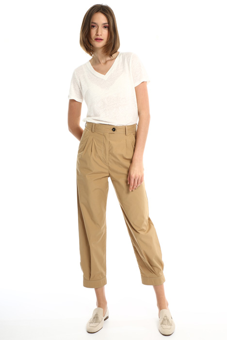 Trousers in cotton poplin Intrend