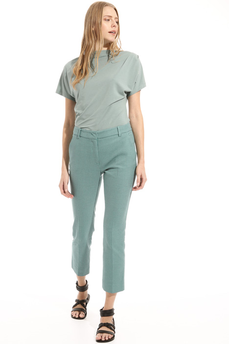 Pure cotton crepe trousers Intrend