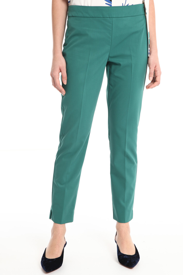 Stretch viscose blend trousers Intrend