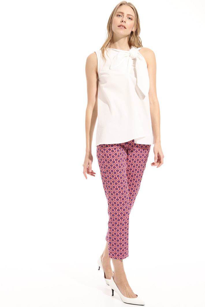 Regular cotton trousers Intrend
