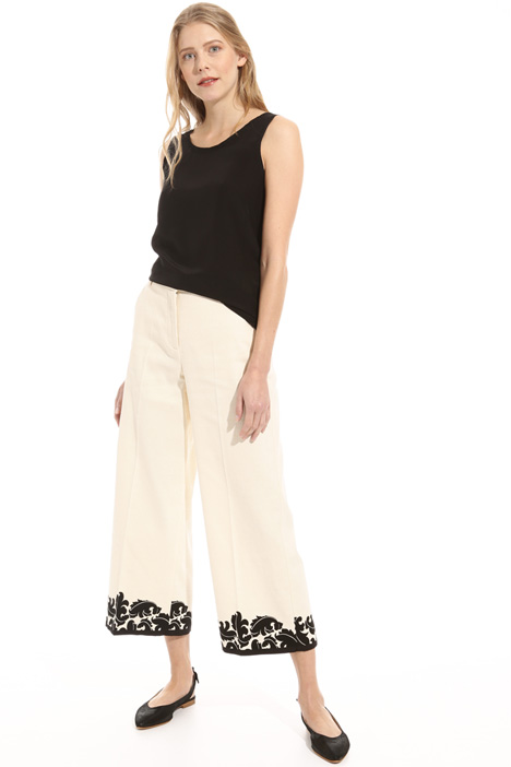 Pure cotton crop trousers Intrend