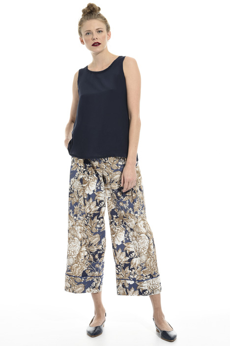 Floral cropped trousers Intrend