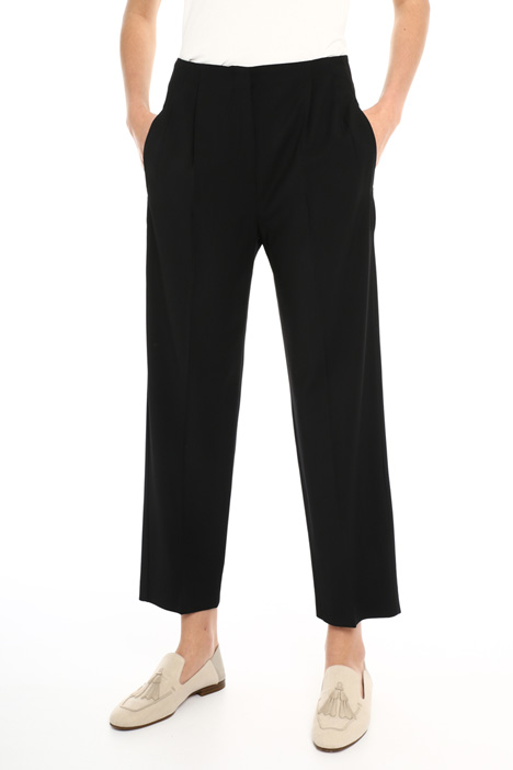 Wool blend twill trousers Intrend