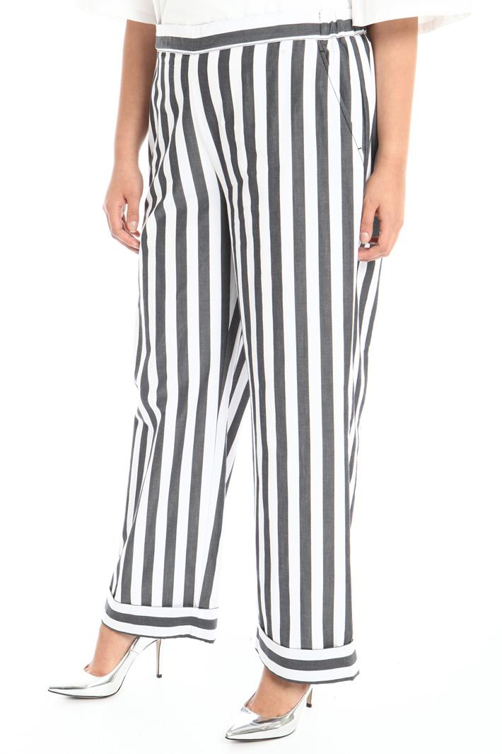 Poplin trousers Intrend