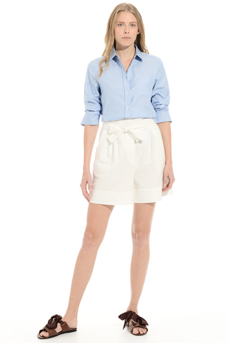 Cotton and linen shorts Intrend