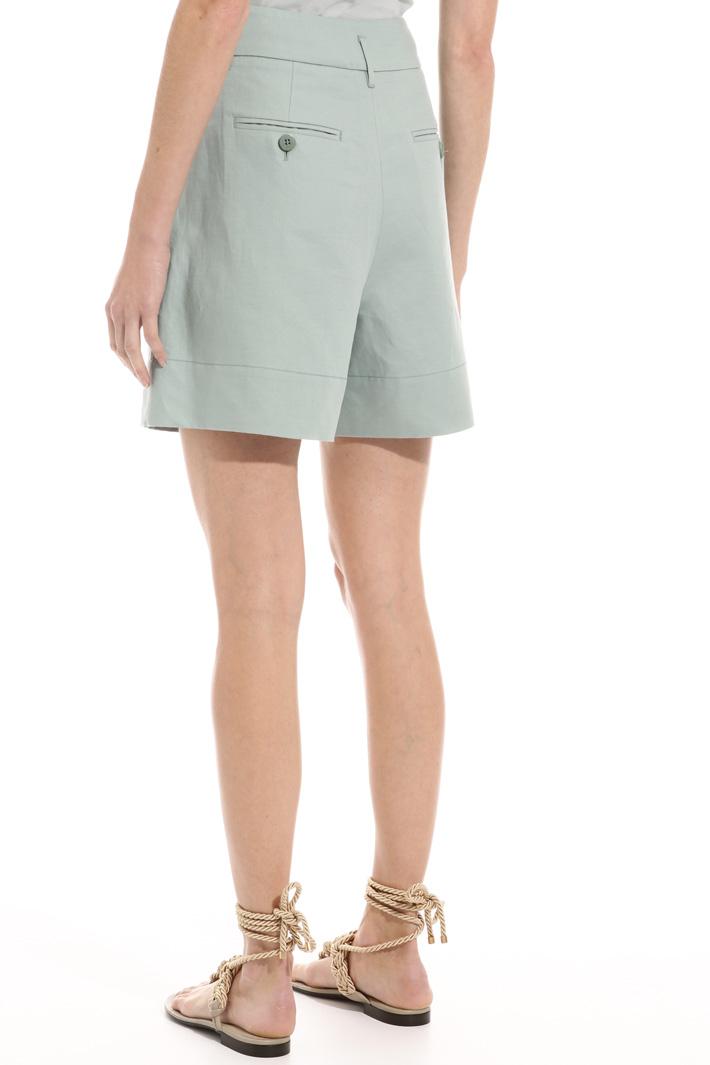 Shorts in cotone e lino Intrend