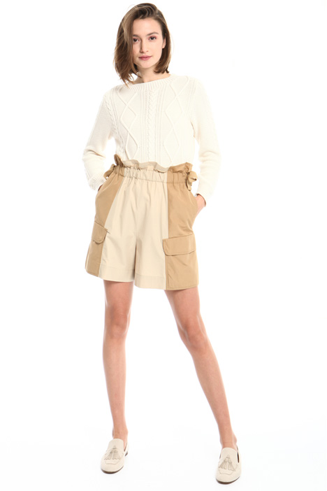 Cotton ottoman shorts Intrend