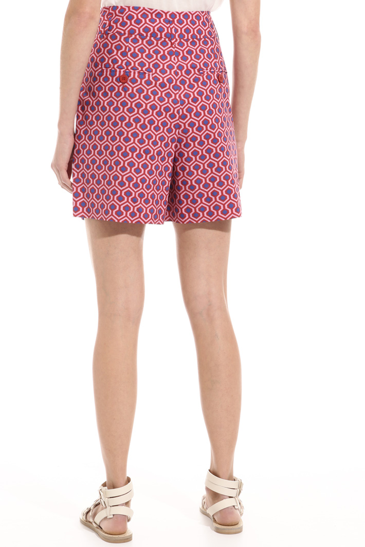 Shorts in popeline di cotone Intrend