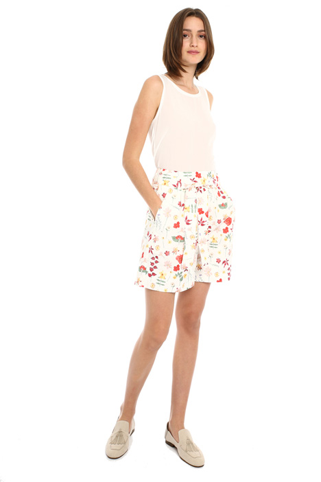 Cotton poplin shorts Intrend