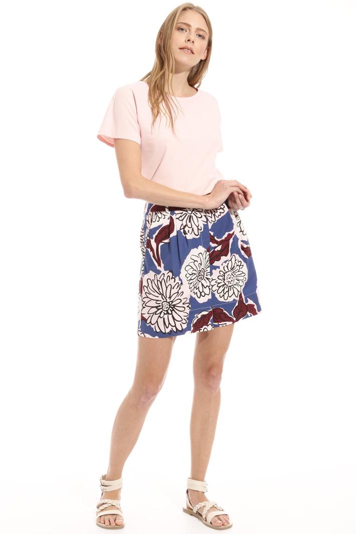 Cotton poplin shorts Intrend