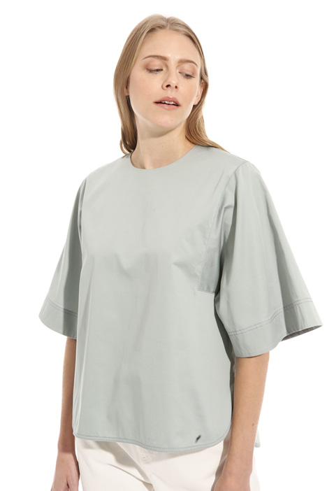 Boxy fit satin tunic Intrend