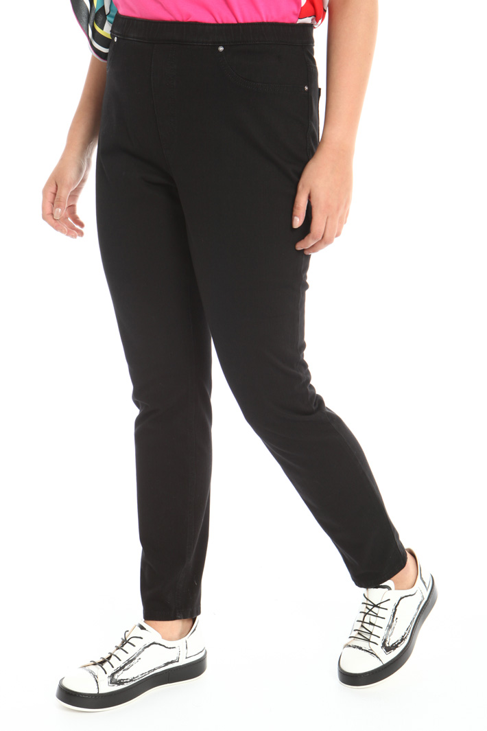 Denim jersey trousers Intrend