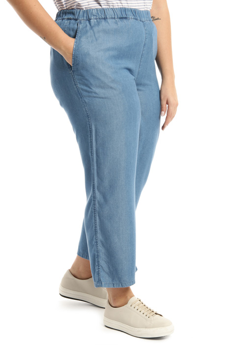 Wide leg light denim trousers Intrend