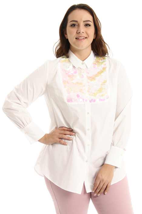 Sequin plastron shirt Intrend