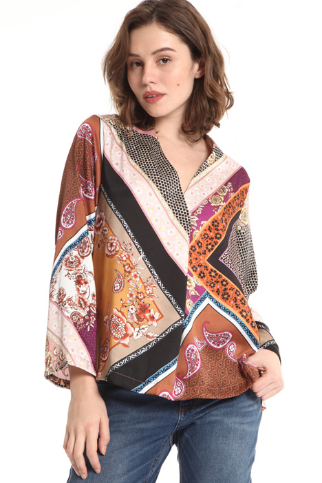 Printed twill tunic Intrend