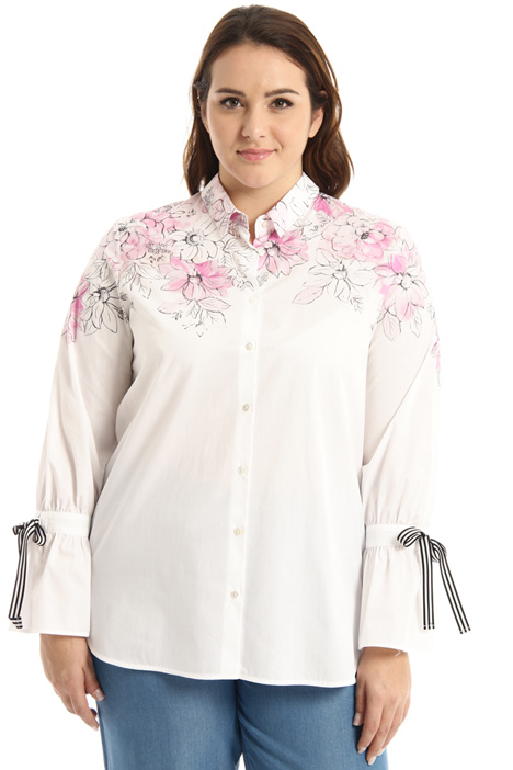 Shirt with printed upper Intrend