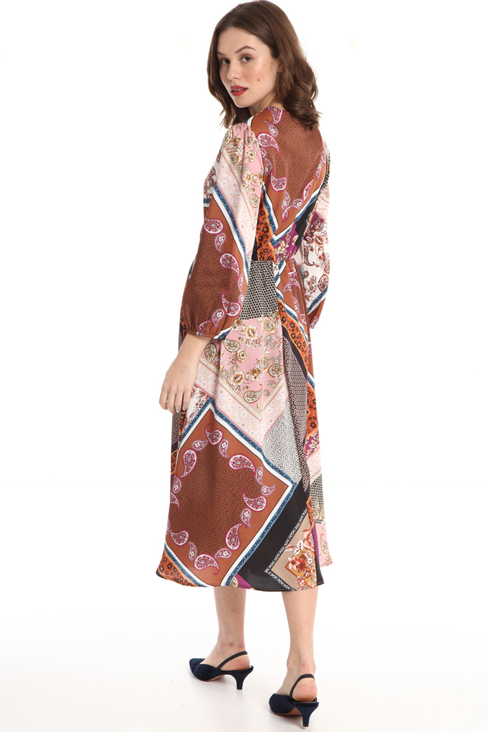 Printed twill dress Intrend