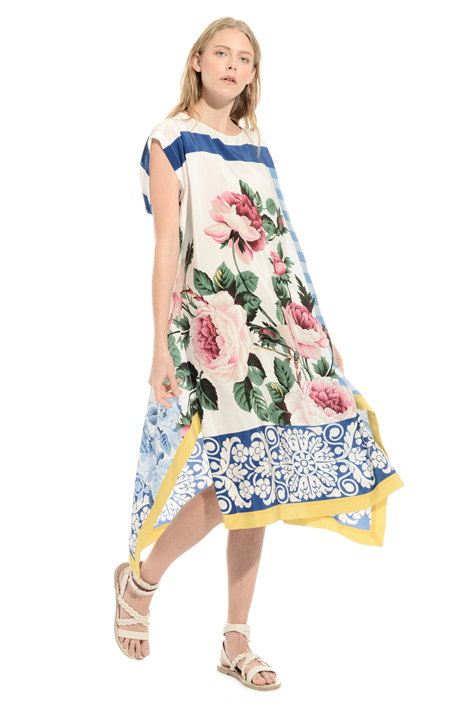 Printed pure silk dress Intrend