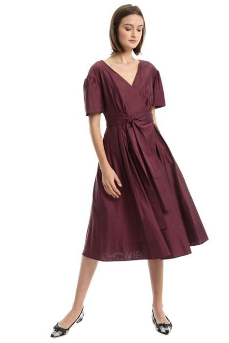 Cotton and silk wrap-up dress Intrend