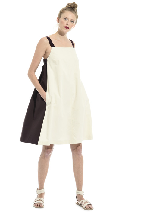 Two-tone cotton dress  Intrend