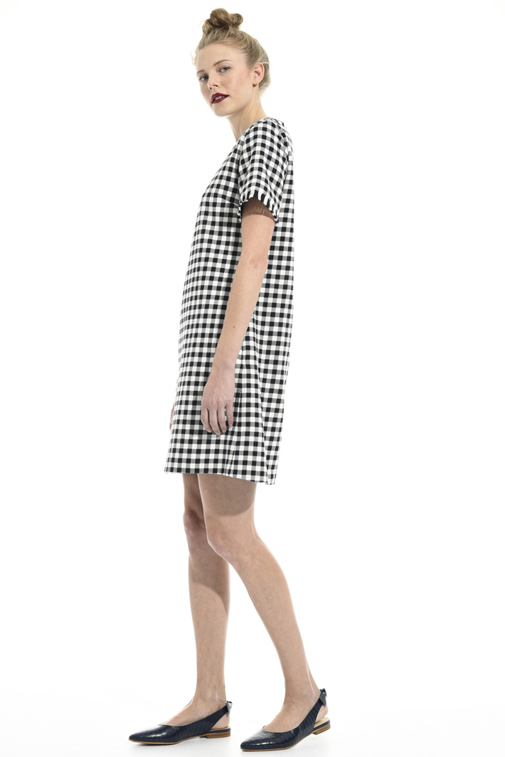 Yarn-dyed cotton dress Intrend