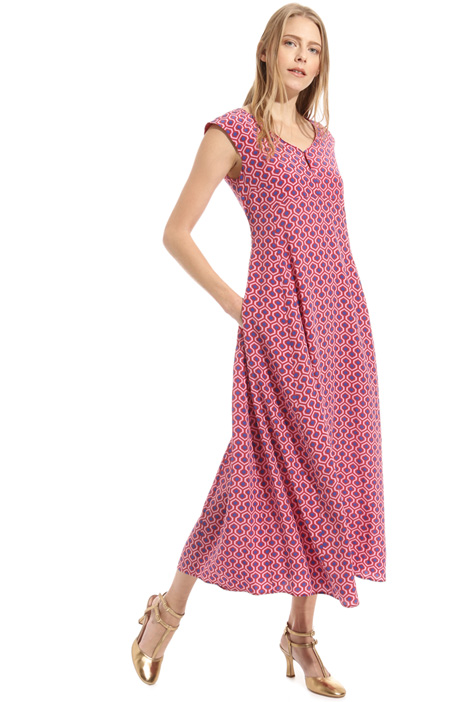 Fit and flare silk dress Intrend