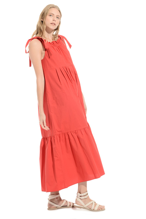 Wide dress in pure cotton Intrend