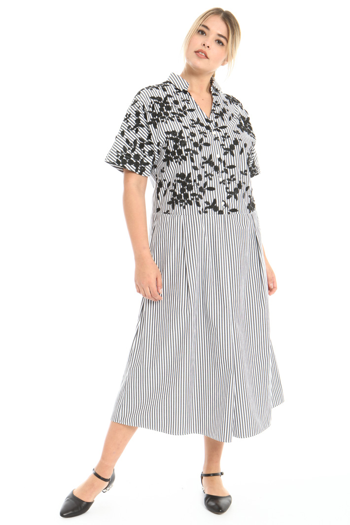 Embroidered cotton dress Intrend