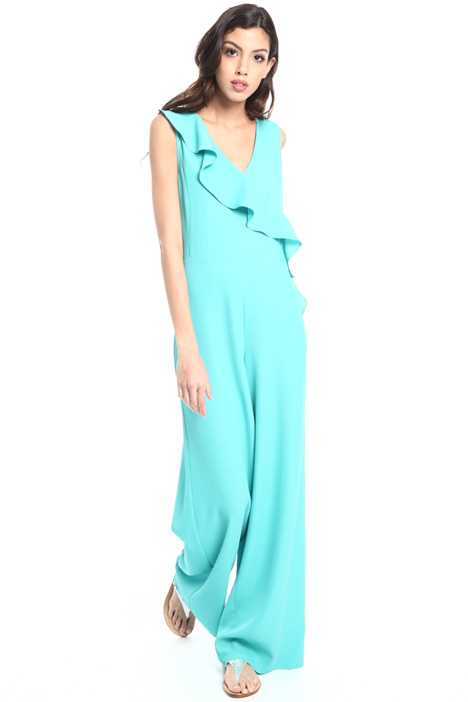 Diagonal flounce jumpsuit Intrend