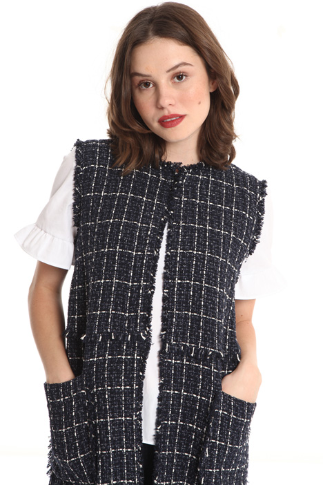 Woven cotton bouclé vest Intrend