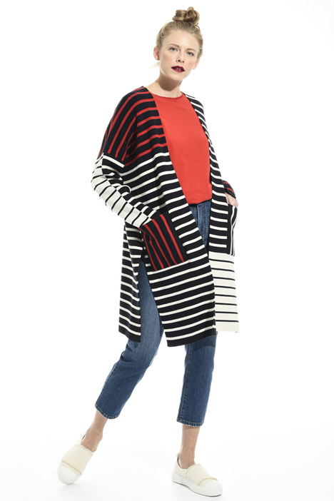 Colour block striped cardigan Intrend